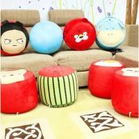 Sofa Anak Tiup Balon Karakter Lucu + Pompa Mini / Kursi Angin Kekinian