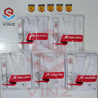 Muvon Tegi Pemula Seragam Karate Ukuran M, L, XL, 2XL dan 3XL