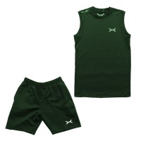 FLEXZONE Set Training - Hijau Army - Gym Fitness Lari Jogging Renang