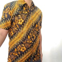 kumpulan hem batik lengan pendek size M/ beda motif grosiran