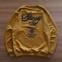Jaket Hoodie Sweater Zipper Basic STUSSY WORLD TOUR - HIGH QUALITY