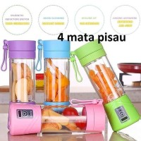 USB Juice Blender Rechargeable and Portable - Merah Muda