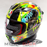 Helm KYT Falcon - Repaint WD AGV Wintertest 2019 Rossi 46