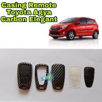 Casing Remot Kunci Alarm Mobil Toyota Agya Motif Carbon Elegant