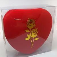 Set Kotak Perhiasan Luxury Red Bludru Anting Gelang Kalung dan Cincin