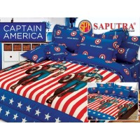 Bed Cover Set Sprei Rumbai Saputra 180 x 200 Captain America Limited
