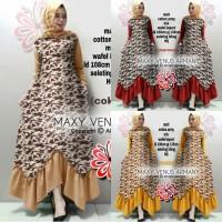 maxy venus 21 / maxi dress army / gamis muslim wanita