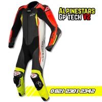 wearpack balap motor roadrace alpinestar gp tech v2 leather suit