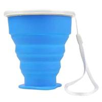 Gelas Lipat Silikon Foldable 200ml - GYBL559 - Blue