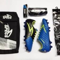 (PAKET KOMPLIT) Sepatu bola Specs Swervo Dragon grey Grade ori bahan