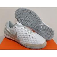 Sepatu Futsal Nike Tiempo Legend VIII Academy White Platinum