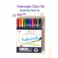 Tombow Fudenosuke Colors Brush Pen Hard Set 10 Warna 647990 ATK0849TW