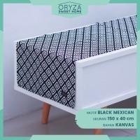 Taplak Meja Tamu Minimalis - Motif Black Mexican