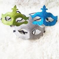 topeng prom night pesta / motif gliter / glitter zoro
