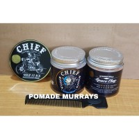 PROMO POMADE CHIEF BARBERNAUT SPACE CLAY STRONG HOLD 4.2 OZ FREE SISIR