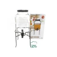 Glass Dispenser / Dispenser Toples Kaca Kran / Ukuran 4000ml