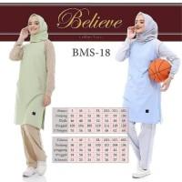 Baju olahraga senam wanita muslimah panjang syari zumba yoga BMS 18