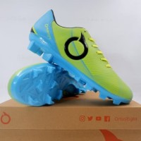 Sepatu Bola OrtusEight Prodigy FG Fluo Green Pale Cyan 11010121 Ori