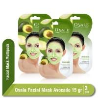 Ovale Facial Mask Avocado Sachet 15 Multipack isi 3