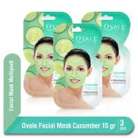 Ovale Facial Mask Cucumber Sachet 15 Multipack isi 3