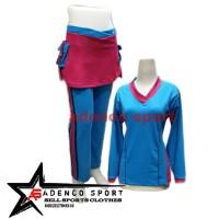 Stelan Senam Wanita/Stelan Baju Olahraga Wanita/Stelan Senam Muslim