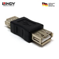 LINDY #71230 USB Adapter, USB A Female to A Female Coupler