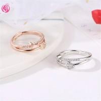 Cincin Perak Model Hati Dengan Batu Zircoin BEST PRODUCT
