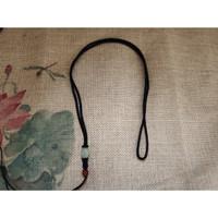 Kalung Tali Liontin Rajut Batu Giok Akik Merah J090