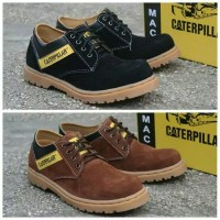Sepatu Safety Caterpillar Low Boots Kulit Suede Sol Gum