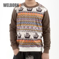 Welborn Kids Sweater Coklat Kapal Anak Laki
