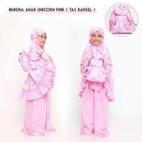 Paling Laris Pusat Grosir Mukena Anak Unicorn Pink (Tas Ransel) Xxl