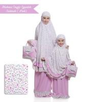 Terbaru Mukena Couple Spandek Sakinah (Ibu+Anak) - Pink Terbaru