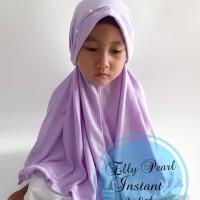 Terpopuler Hijab Anak Elly Pearl Instant 3-8Th / Bergo Santai / Harian