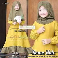 Terhot Baju Gamis Anak Wanita Terbaru Polos Ronas Kids Syari Original