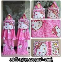 Paling Murah Mukena Anak Hello Kitty Leopard Pink Size L Terhot