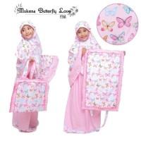 Paling Murah Mukena Anak Butterfly Love Pink Size Xl Termurah