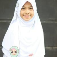 Terlaris Jilbab Anak Instan Edisi Sekolah , Monia Hijab Kids Size L