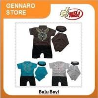 Terbaru Baju Anak Cowok Bayi Laki-Laki Romper Jumper Koko + Peci +