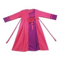 Terhot Gamis Anak Perempuan Balotelli Pita Murah Lucu - Pink Abp01 - L