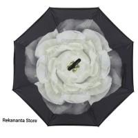 Payung Terbalik Motif Gardenia Gagang C / Reverse Umbrella Handle C