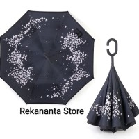 Payung Terbalik Cherry Blossom Gagang C / Reverse Umbrella Handle C