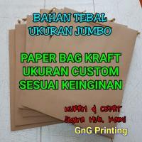 Paper Bag Kraft Tebal Custom Ukuran Jumbo - Paperbag - Kantong Kertas