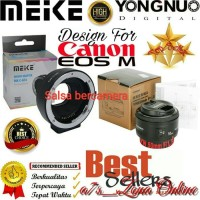 Adapter Meike For Canon EOS-M Paket Lensa Fix 50mm Yongnuo F1.8