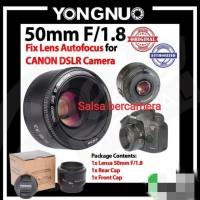 Lensa Yongnuo YN 50mm f/1.8 For Canon EF Lensa Fix 50mm