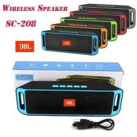 Speaker JBL Wireless Bluetooth 208 A2DP Super Bass Radio FM MMC Aux