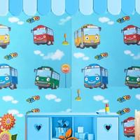 [BUY 1 GET 1] Wallpaper Dinding Sticker Tayo Bus B-5352 10m x 45cm
