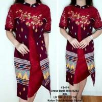 Dress batik ulos brukat