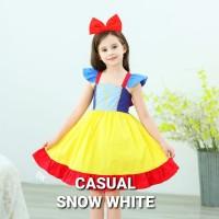 BAJUKIDDIE CASUAL SNOW WHITE DRESS kostum anak perempuan princess gaun - Size 110