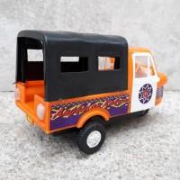 Mainan Mobil Bemo Roda Tiga Klasik - Miniatur Becak Motor Edukasi Anak