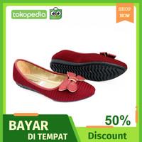 Shoes Flat Gratica Sepatu Wanita Murah Model Terbaru Pesta Resmi AW77 - Maroon, 40